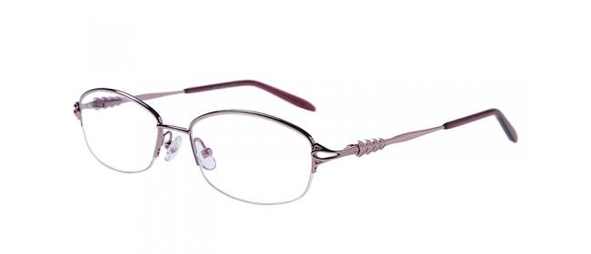 Halbrandbrille aus Metall in Pink