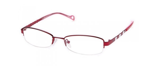Damen Brille in Rot und Pink - Metallgestell