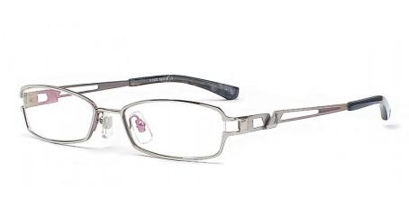 Sliberfarbenes Damen und Herren Brillengestell