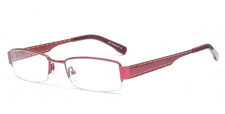 Dunkelrote Damen Fashion Brille