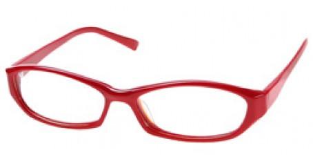 Damen Retro Brille - toller Rot Ton