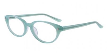Runde Vollrand-Gleitsichbrille aus Kunststoff in Mintgrün