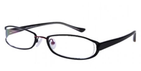 Rot Schwarze Vollrandbrille aus Metall
