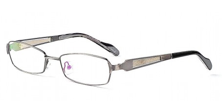 Vollrandbrille aus Metall - Geformte Brillenfront