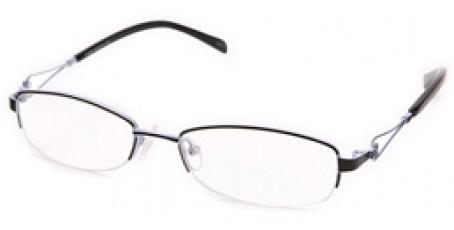 Extravagante Halbrandbrille für modebewusste Frauen