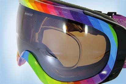 Skibrille mit getönten Gläsern